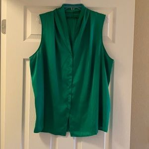 Emerald Green Tank Blouse